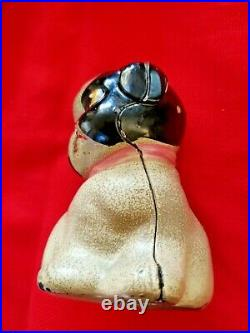 Antique Rare Cast Iron Penny Bank Hubley Puppo Designed By Grace Drayton 1920s