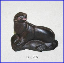 Antique Sea Lion or Seal Figural Cast Iron Still Toy Penny Bank
