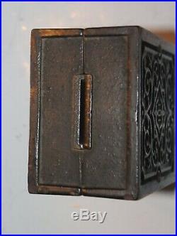 Antique Security Safe Deposit Safe Antique Cast Iron Still Bank Toy Vault