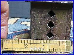 Antique Small Cast Iron Still Bank Building With Cupola J & E Stevens 1870