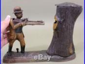 Antique Stevens Teddy & the Bear, Cast Iron Mechanical Bank, President Roosevelt