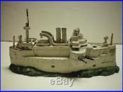 Antique USS Kentucky Battleship Still Bank J E Stevens Cast Iron