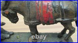 Antique Vintage 1879 Always Did'Spise A Mule Bench Cast Iron Mechanical Bank