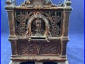 Antique Vintage Cast Iron Still Bank VERY RARE, WORKING Fidelity Trust Vault