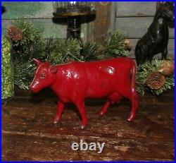 Antique Vtg 1920 Williams Dime Store Cast Iron Dairy Milk Cow Still Penny Bank