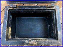 Antique Wells Fargo Cast Iron Stagecoach Strong Box Money Lock Vault Train Bank