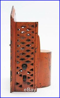 Antique c. 1884 Shepard Hardware Company Punch & Judy Cast Iron Mechanical Bank
