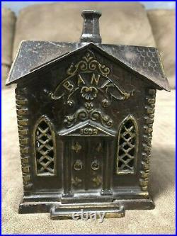 Antique, cast iron, Villa Bank (1882 CHURCH) Building made by Kyser & Rex