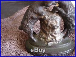 Antique's cast iron still bank Two Kids
