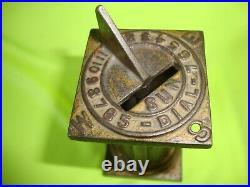 Arcade cast iron Sundial Bank