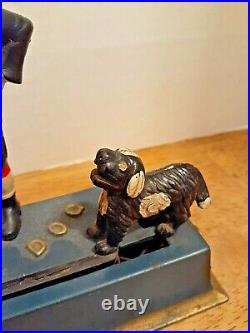 Authentic Antique 1920s Cast Iron Hubley, Trick Dog, Mechanical Bank WORKING
