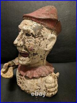 Authentic antique Shepard Hardware Humpty Dumpty cast iron bank circa 1880s