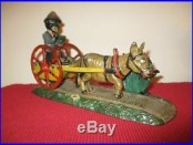 BAD ACCIDENT Mechanical Bank Cast Iron Antique c1897 Toy