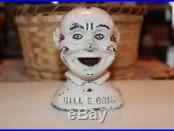 BILL E GRIN Cast Iron Mechanical Bank, Made by J & E Stevens Co, Circa 1915