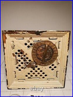 B-103 Antique Cast Iron The Columbia Bank, Rare Kenton Hardware Worn Condition