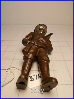 B-76 Antique Cast Iron 1905 Hubley Minuteman Bank, Excellent Condition
