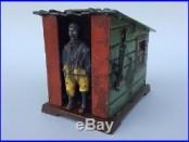 Black Americana Cast Iron Cabin Mechanical Bank J & E Stevens C. 1883 Og Paint