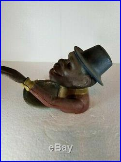 Black Americana Large Vintage Cast-Iron NutcrackerUnique