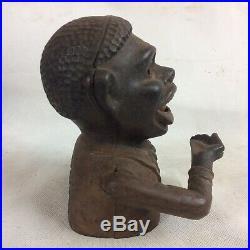 Black Americana Original Jolly Money Bank Cast Iron Moneybox
