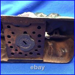 Boy Scout Camp J E Stevens Mechanical Cast Iron Bank