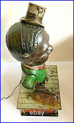 C. 1880's Shepard Hardware Cast Iron Stump Speaker Mechanical Bank