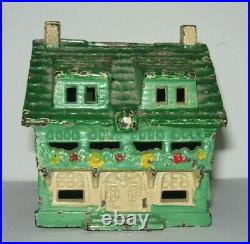 C. 1920's Original Grey Iron Casting Cottage Bank Excellent Condition