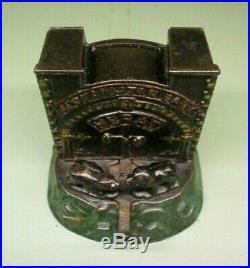 Cast Iron AFGHANISTAN BANK VERY RARE Mechanical Bank Original Americana Toy