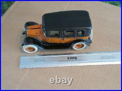 Cast Iron Arcade Limousine Flat Top Taxi Cab Bank Private Label 8 ¼ Exc