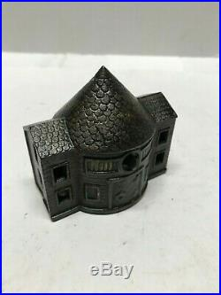 Cast Iron Cone Top Building Still Bank- Antique