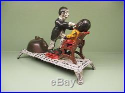 Cast Iron DENTIST BANK Mechanical Bank Original Antique Americana Toy