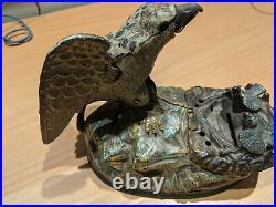 Cast Iron'Eagle and Eaglets' Mechanical Bank 1883 J
