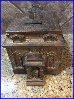 Cast Iron HOME BANK by HL Judd c. 1895