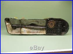 Cast Iron INDIAN SHOOTING BEAR Mechanical Bank Original Antique Americana Toy