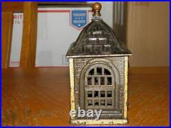 Cast Iron J&e Stevens Home Saving Bank Building Pat. March 10, 1891 Nice Bank