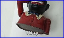 Cast Iron John Harper Jolly Mechanical Bank Black Americana Toy Money Box Uk