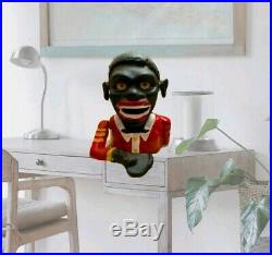 Cast Iron Jolly Boy Mechanical Bank Tirelire Family Heirloom