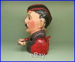 Cast Iron KILTIE BANK Mechanical Bank Original Antique Americana Toy