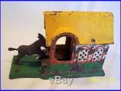 Cast Iron Kicking Donkey and Dog Mechanical Bank