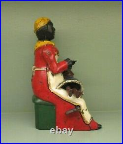 Cast Iron MOTHER AND CHILD aka BABY MINE Mechanical Bank Original Antique