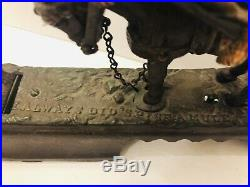 Cast Iron Mechanical Always Did'Spise a Mule Antique Bank Jockey On