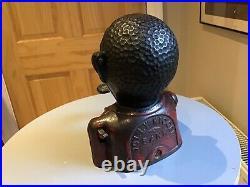 Cast Iron Money Box. Jolly N Bank. RARE Original. Antique. John Harper