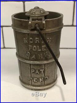 Cast Iron North Pole Bank Grey Iron Casting Co. RARE L@@K