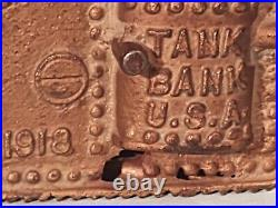 Cast Iron Tank Bank 1918, USA By A. C. Williams