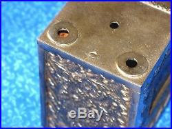 Cast Iron Toy Safe Bank Nickel Plated Kodak Photos Lock & Key Gold Coins Bills