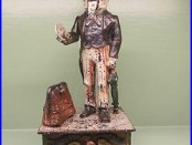 Cast Iron UNCLE SAM Mechanical Bank Original Antique Americana Toy