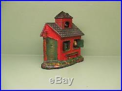 Cast Iron ZOO BANK Mechanical Bank Original Antique Americana Toy