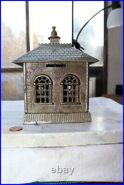 Cast Iron nickel plated State Bank building