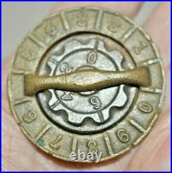 Circa 1875 Cast Iron Combination Coin Trap or Closure It fits most Kenton Banks