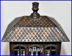 Circa 1887 Cast Iron Finial Bank Made by Kyser & Rex Rated C Moore #1158