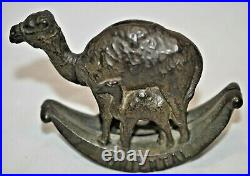 Circa 1900's Cast Iron Oriental Camel and her calf Bank Moore #769 Rated D